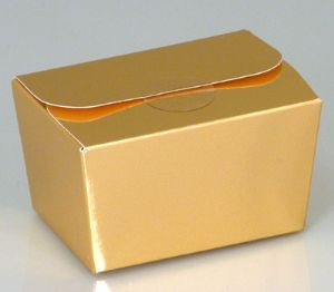 Ballotin Box 125g: Shiny Gold